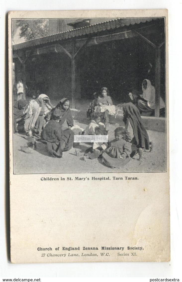 Tarn Taran, India - Children In St Mary's Hospital - Postcard From 1910 - India