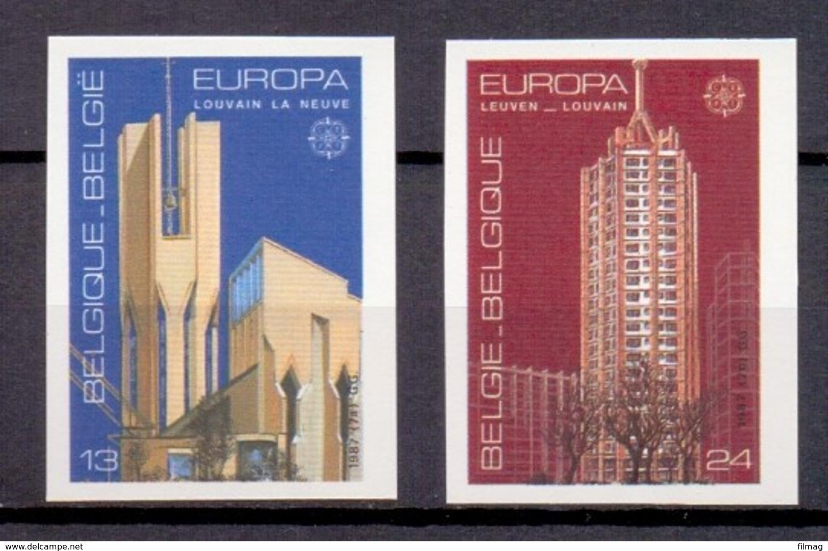 2251/2252 EUROPA ONGETAND   POSTFRIS** 1987 - Belgien