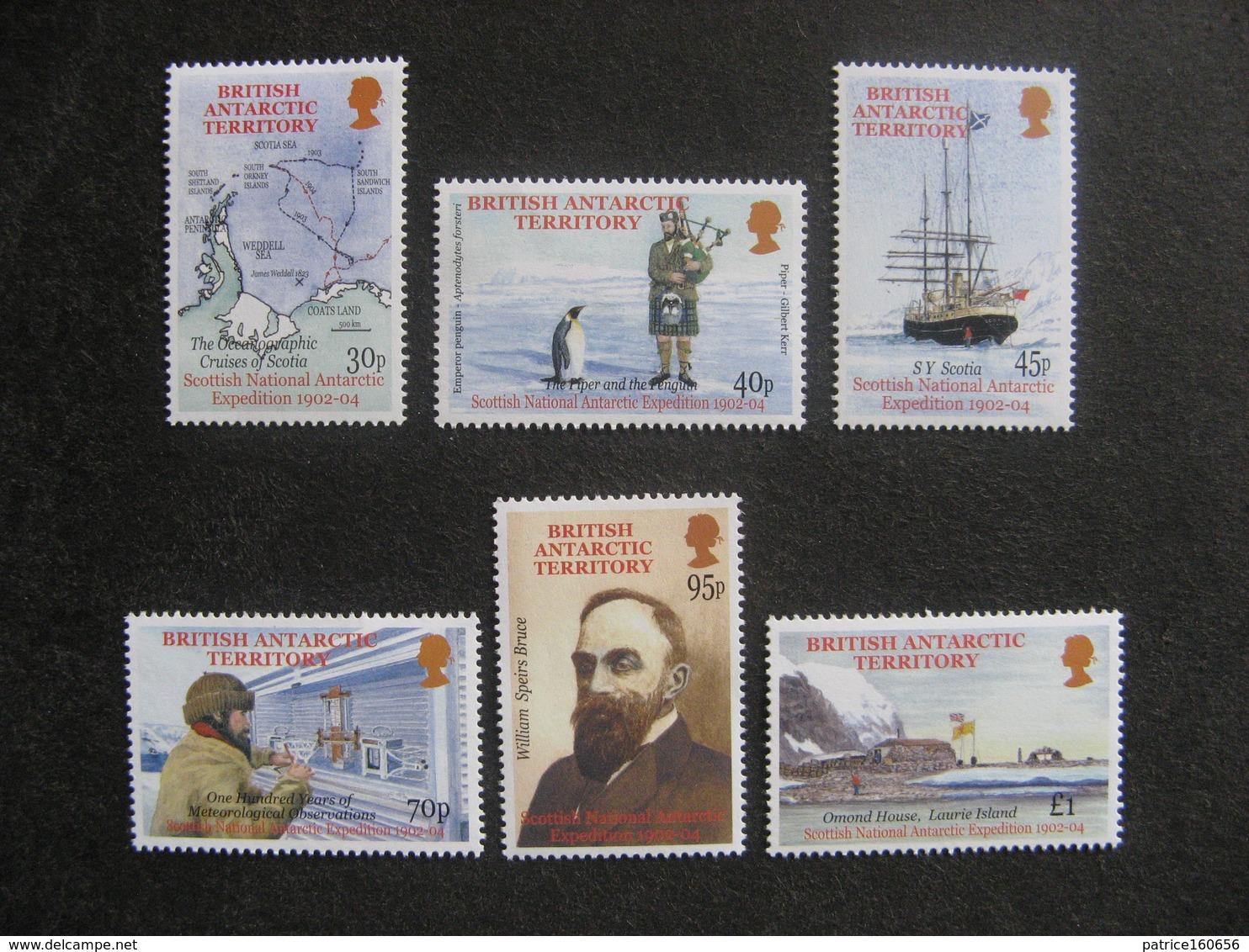 Territoire Antarctique Britannique: TB Série N° 349 Au N° 354, Neufs XX. - British Antarctic Territory  (BAT)
