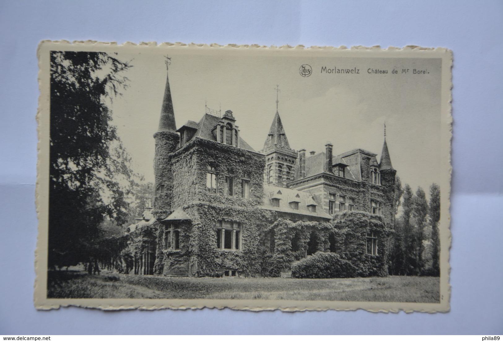 MORLANWELZ-chateau De Mr. Borel-(voir Timbre Au Dos) - Morlanwelz
