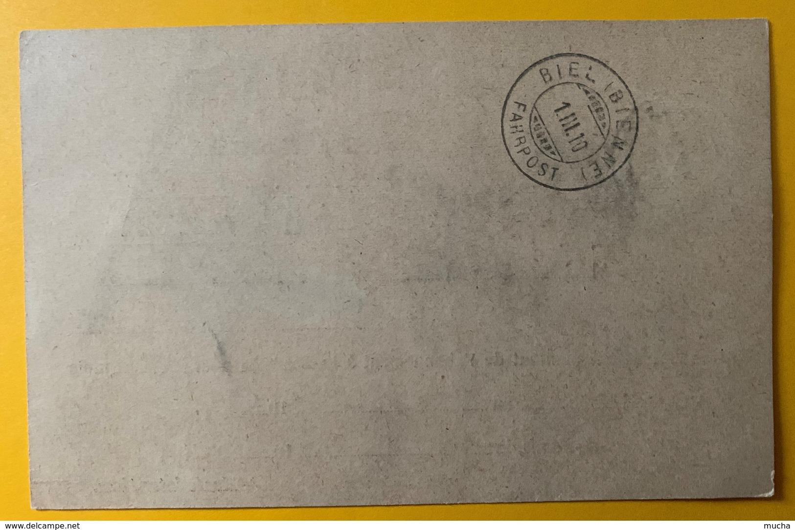 8603 - La Sentinelle Remboursement La Chaux-de-Fonds 1er Mars 1910 - NE Neuchâtel