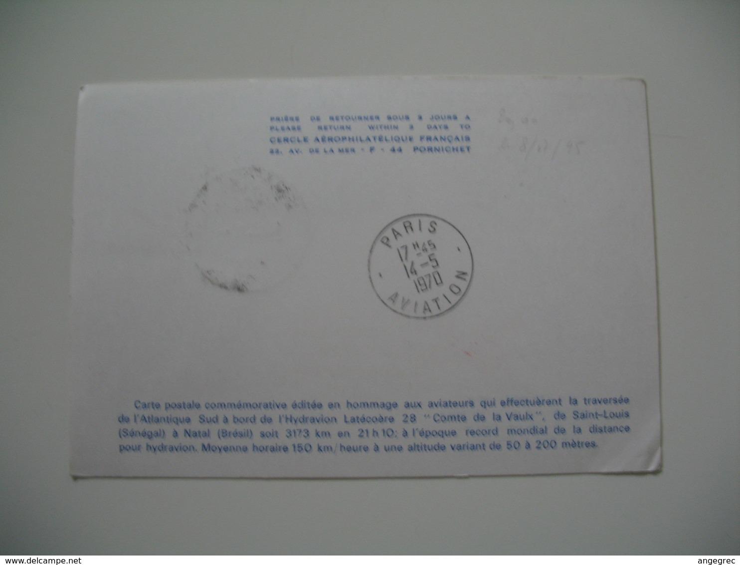 Enveloppe  Argentine  1970 - 40 éme Anniversaire De La Traversée Commerciale En Avion De L'Atlantique Sud Par Mermoz - - Argentina