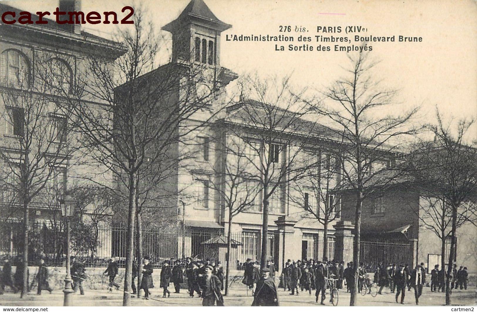 PARIS BOULEVARD BRUNE L'ADMINISTRATION DES TIMBRES SORTIE DES EMPLOYES 75 - Distrito: 14