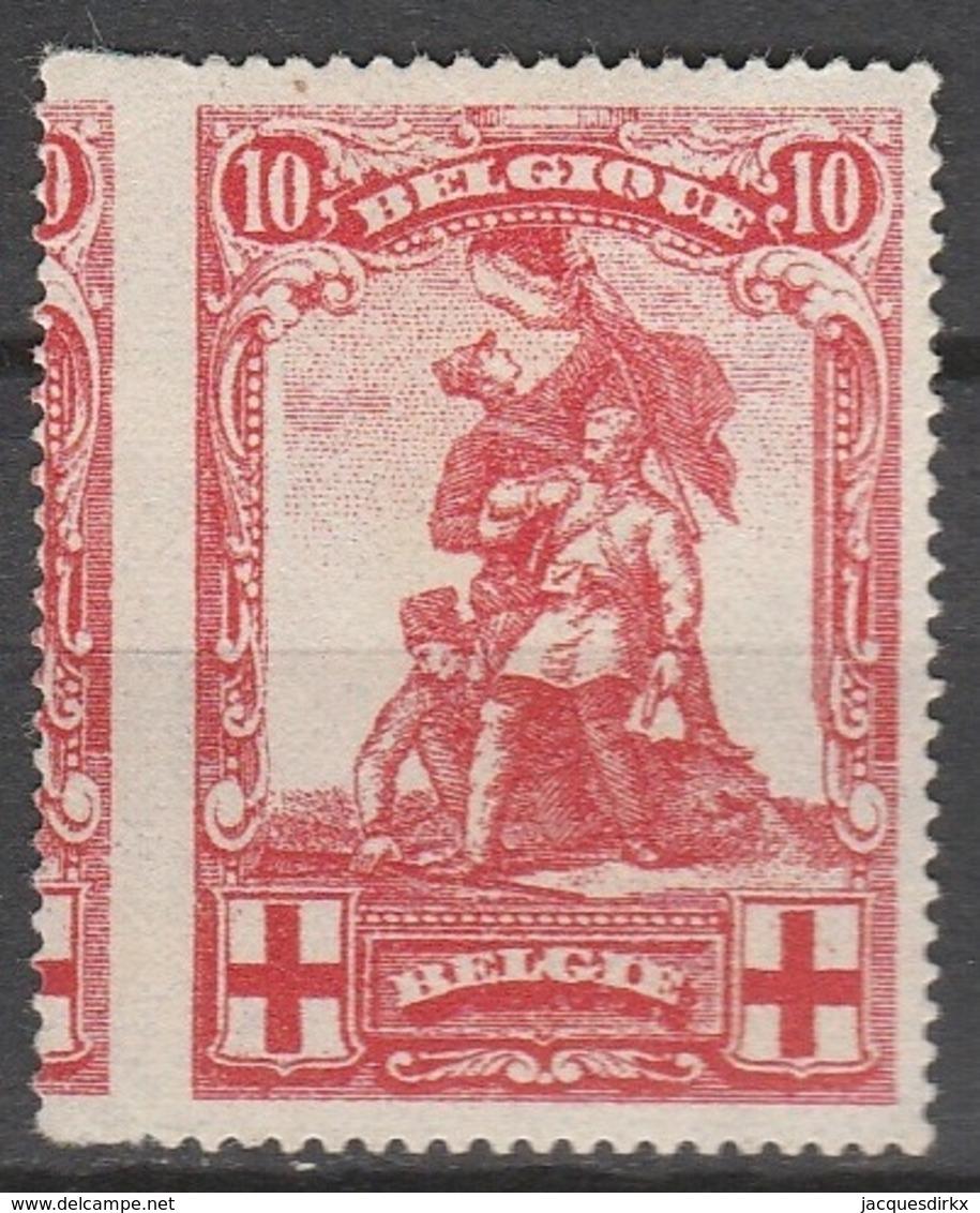 Belgie    .    OBP   .   127     .     *    .       Ongebruikt Met  Charnier    .  / .  Neuf Avec  Charniere - 1914-1915 Croix-Rouge