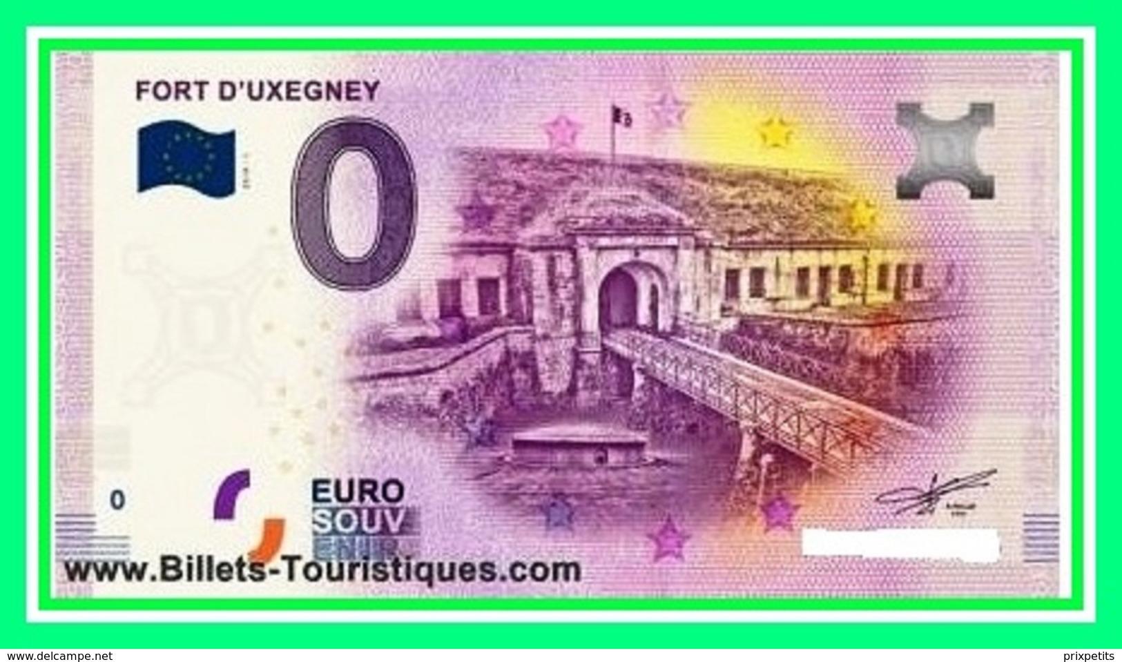 88 / FORT D'UXEGNEY BILLET TOURISTIQUE SOUVENIR 2019 N°)134 - Essais Privés / Non-officiels