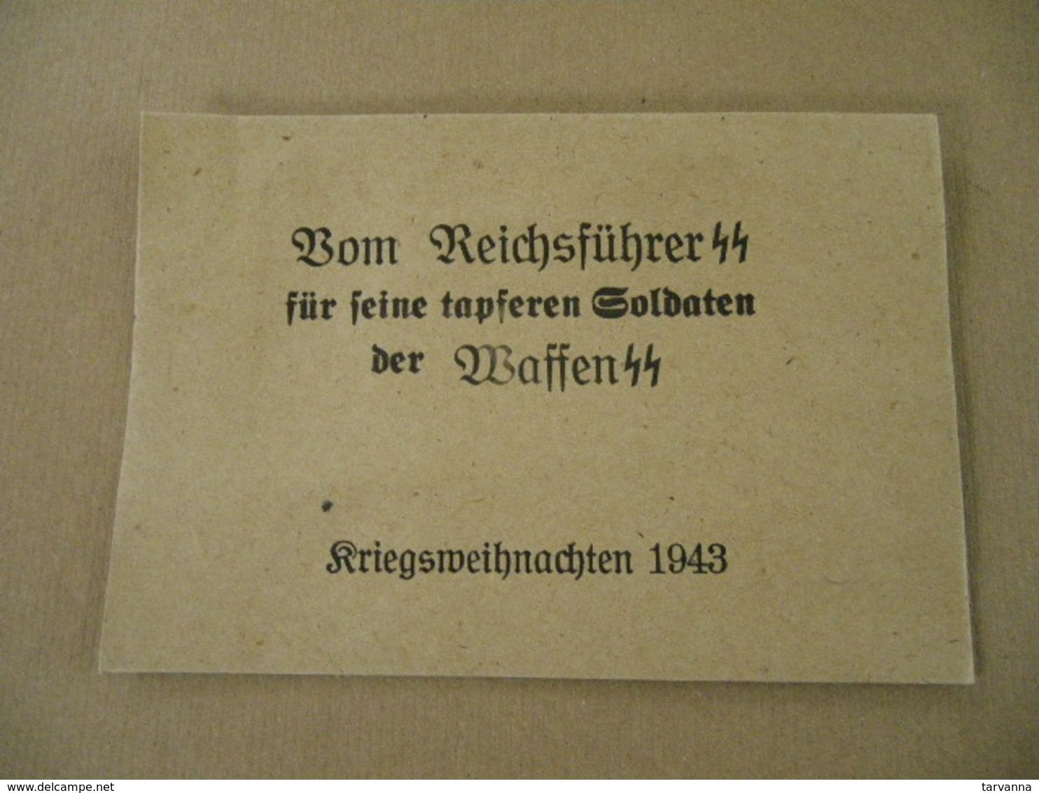 Enveloppe Allemande Pour Le Noêl 1943 - Equipement