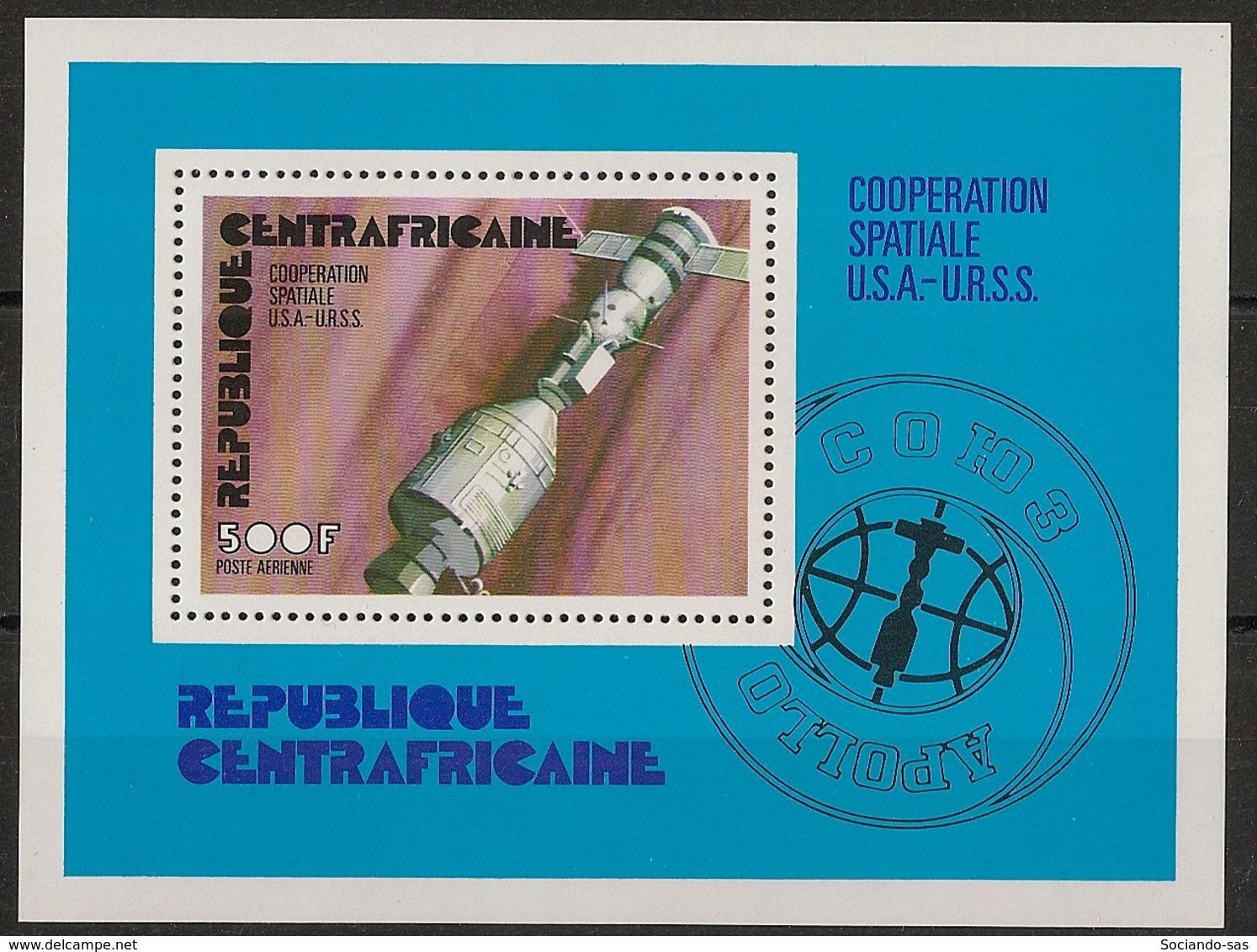 Centrafricaine - 1976 - Bloc Feuillet BF N°Yv. 9 - Coopération Spatiale - Neuf Luxe ** / MNH / Postfrisch - Zentralafrik. Republik