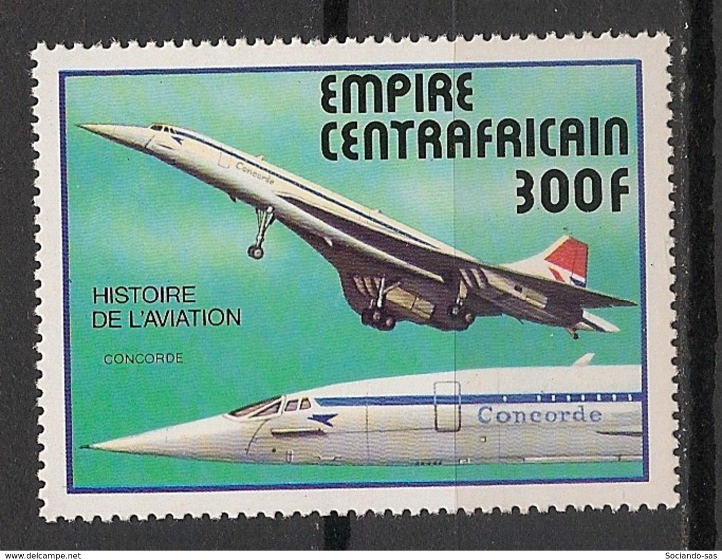 Centrafricaine - 1977 - N°Yv. 309 - Histoire De L'aviation / Concorde - Neuf Luxe ** / MNH / Postfrisch - Zentralafrik. Republik
