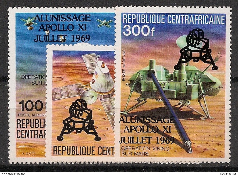 Centrafricaine - 1979 - Poste Aérienne PA N°Yv. 212 à 214 - Homme Sur La Lune - Neuf Luxe ** / MNH / Postfrisch - República Centroafricana