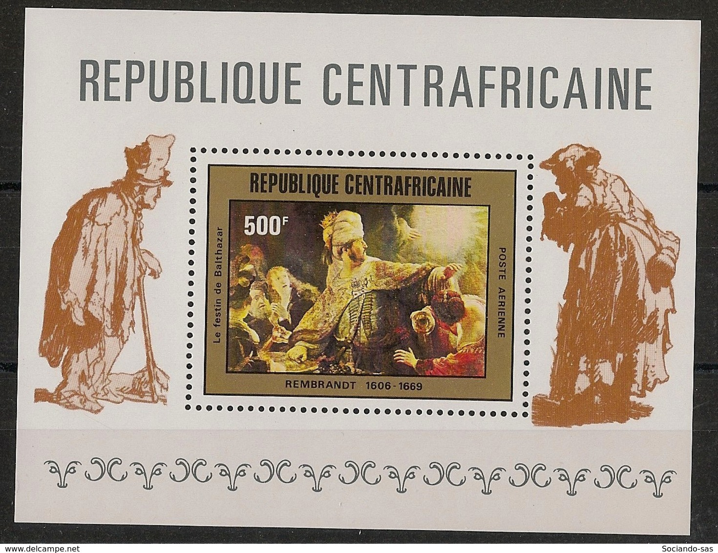 Centrafricaine - 1981 - Bloc Feuillet BF N°Yv. 44 - Rembrandt - Neuf Luxe ** / MNH / Postfrisch - Centrafricaine (République)