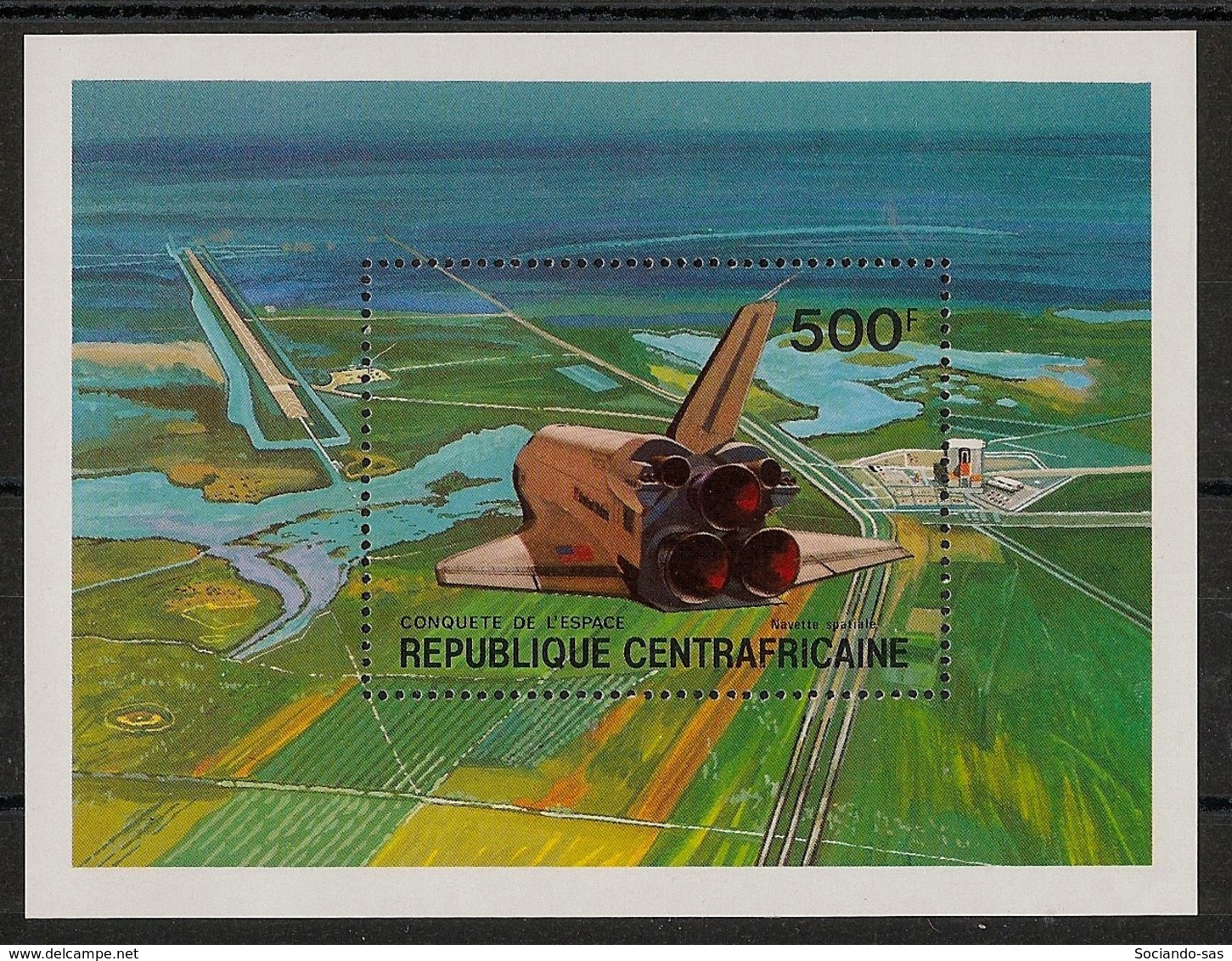 Centrafricaine - 1981 - Bloc Feuillet BF N°Yv. 46 - Space Shuttle - Neuf Luxe ** / MNH / Postfrisch - Centraal-Afrikaanse Republiek