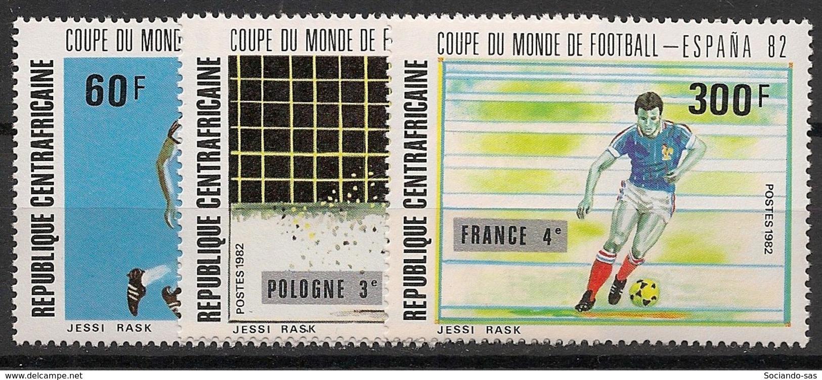 Centrafricaine - 1982 - N°Yv. 531 à 533 - Football World Cup Espana 82 - Neuf Luxe ** / MNH / Postfrisch - Zentralafrik. Republik