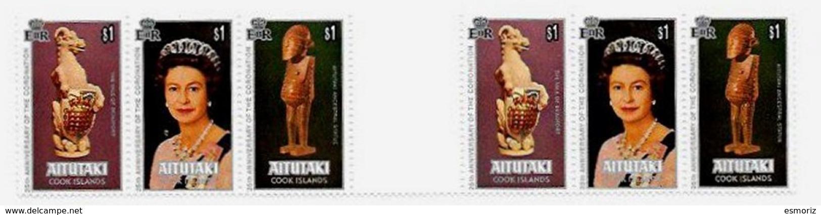 AITUTAKI, Royalty: Silver Jubilee, Yv Bk 23, ** MNH, F/VF, Cat. € 18 - Aitutaki