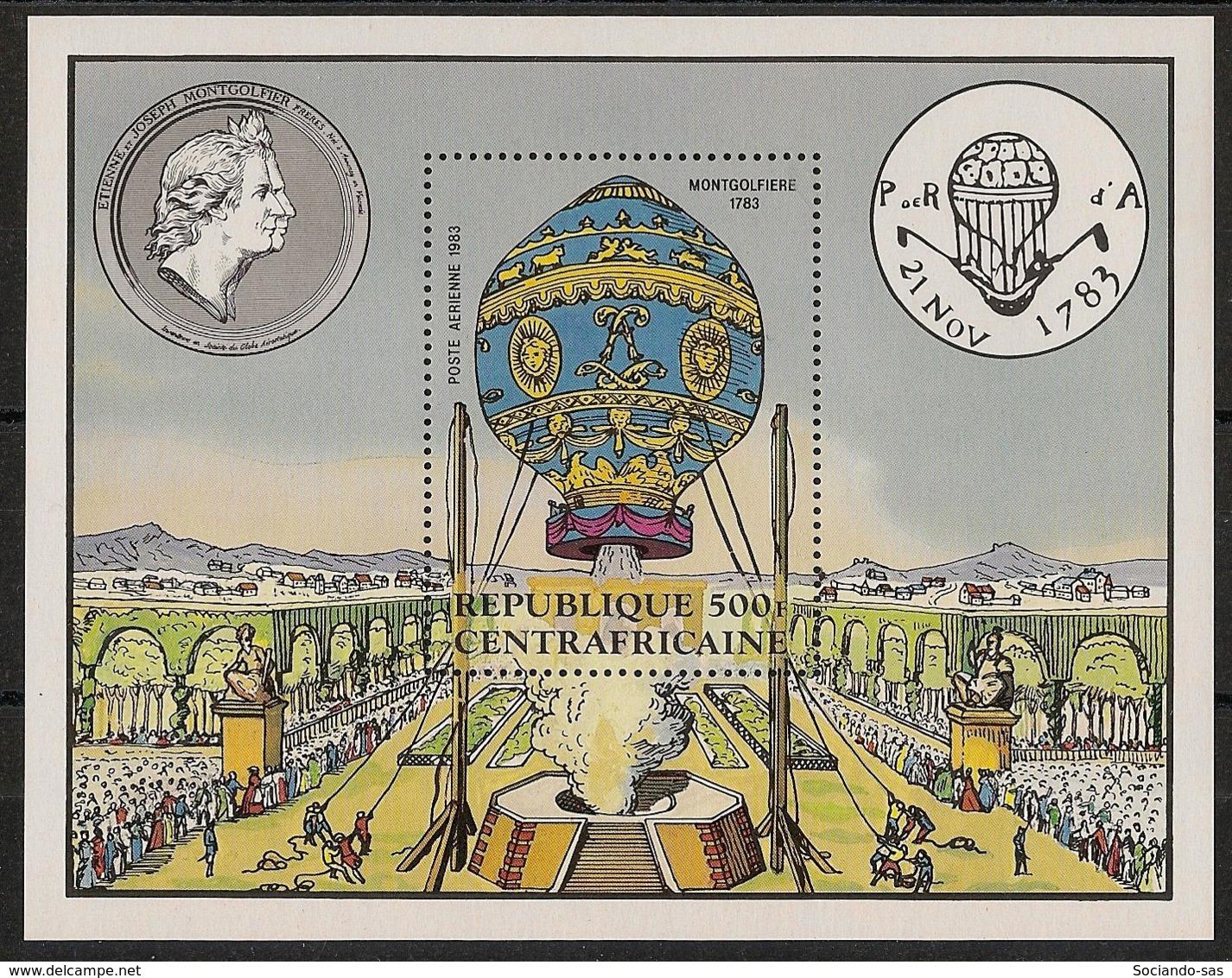 Centrafricaine - 1983 - Bloc Feuillet BF N°Yv. 63 - Montgolfières - Neuf Luxe ** / MNH / Postfrisch - Zentralafrik. Republik