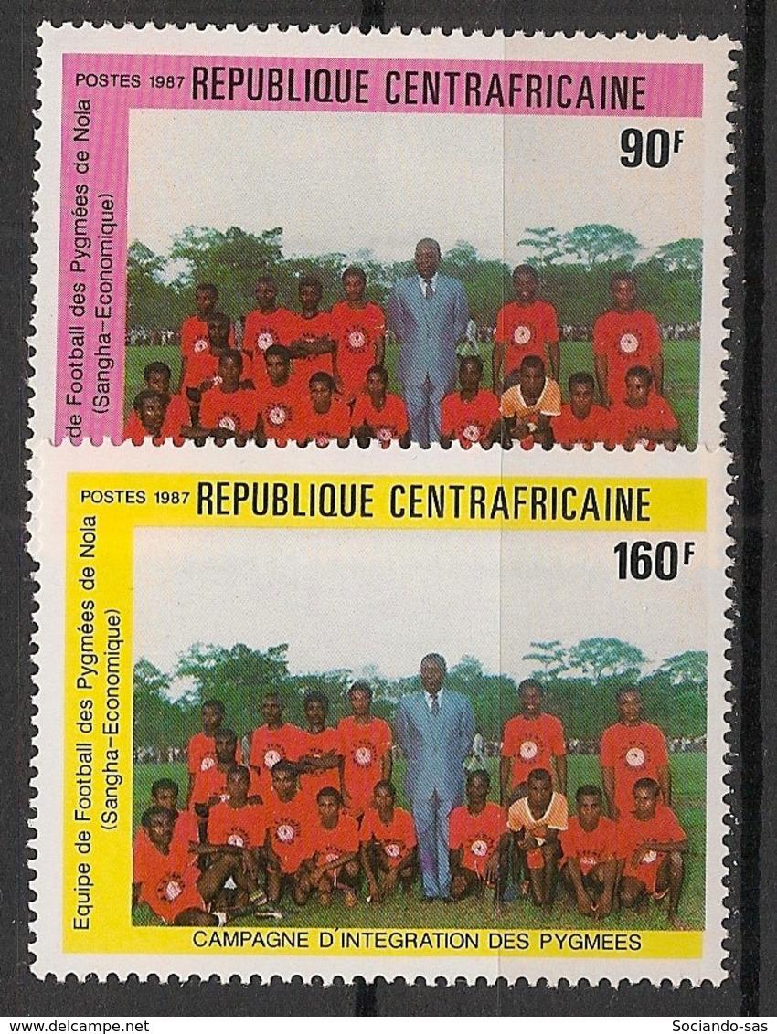 Centrafricaine - 1987 - N°Yv. 777 à 778 - Intégration Des Pygmées - Neuf Luxe ** / MNH / Postfrisch - Zentralafrik. Republik