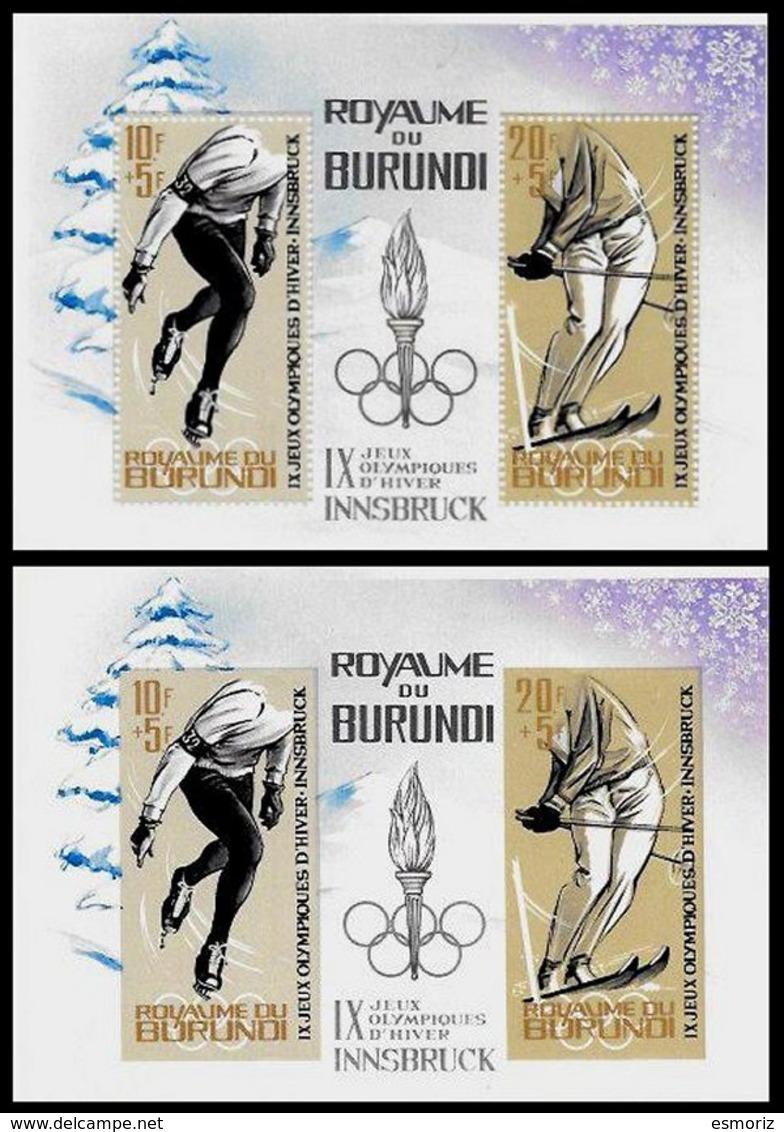 BURUNDI, Olympics, Yv Bk 3-3A, ** MNH, F/VF, Cat. € 35 - Burundi