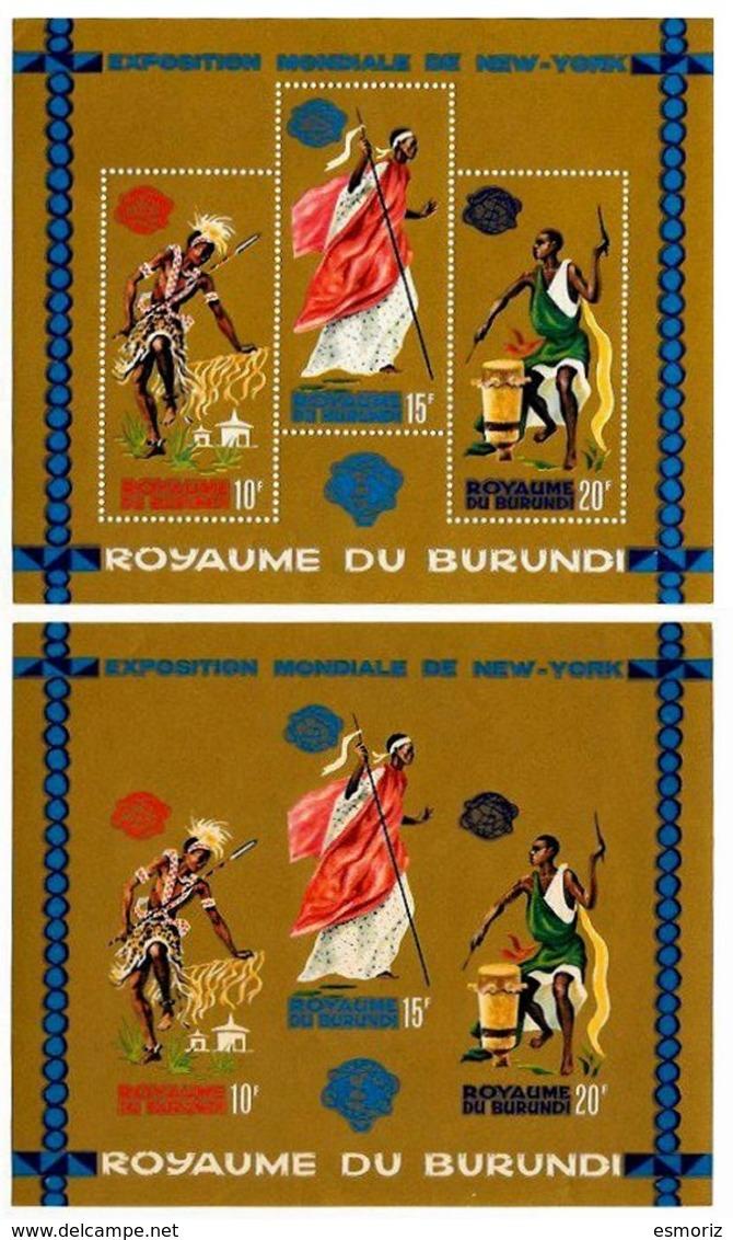 BURUNDI, Philatelic Exhibitions, Yv Bk 4-4A, ** MNH, F/VF, Cat. € 12 - Burundi