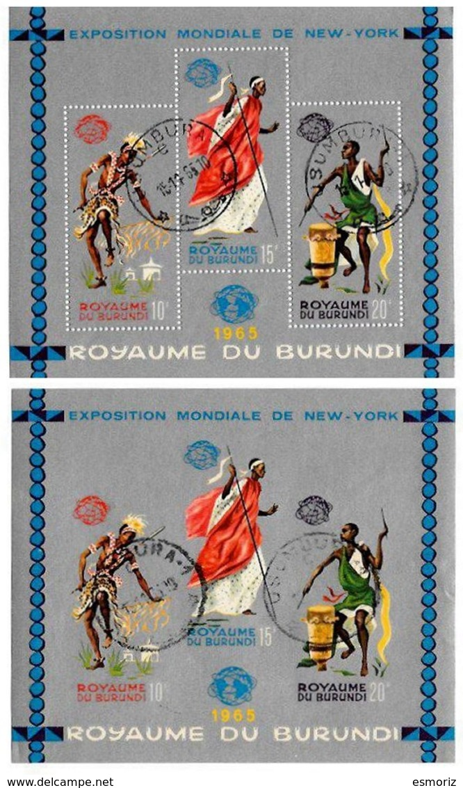 BURUNDI, Philatelic Exhibitions, Yv Bk 8-8A, Used, F/VF, Cat. € 8 - 1962-69: Neufs