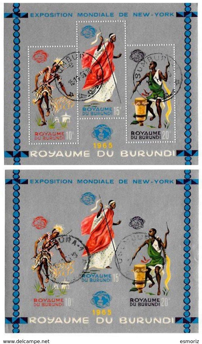 BURUNDI, Philatelic Exhibitions, Yv Bk 8-8A, Used, F/VF, Cat. € 8 - Burundi