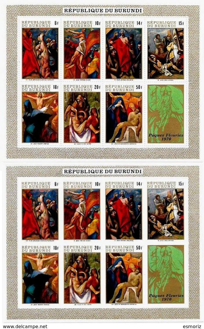 BURUNDI, Paintings, Yv Bk 38-38A, ** MNH, F/VF, Cat. € 8 - 1962-69: Neufs
