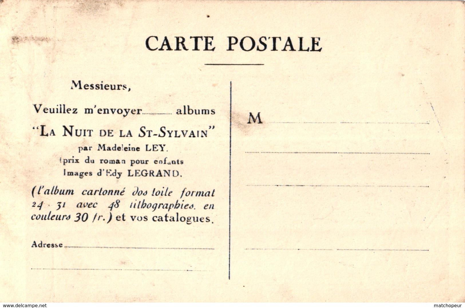 CPA ILLUSTRATION EXTRAITE DE L'ALBUM - LA NUIT DE LA SAINT SYLVAIN - Illustrateurs & Photographes