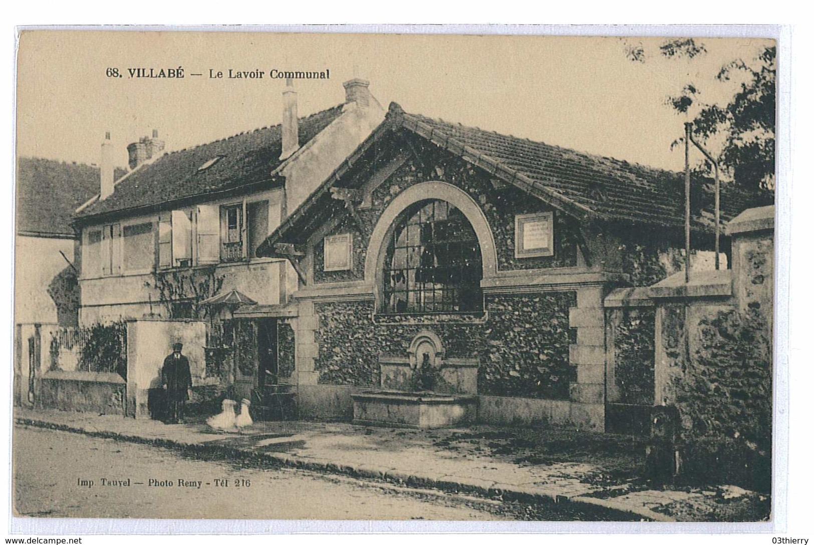 CPA 91 VILLABE LE LAVOIR COMMUNAL - Other Municipalities