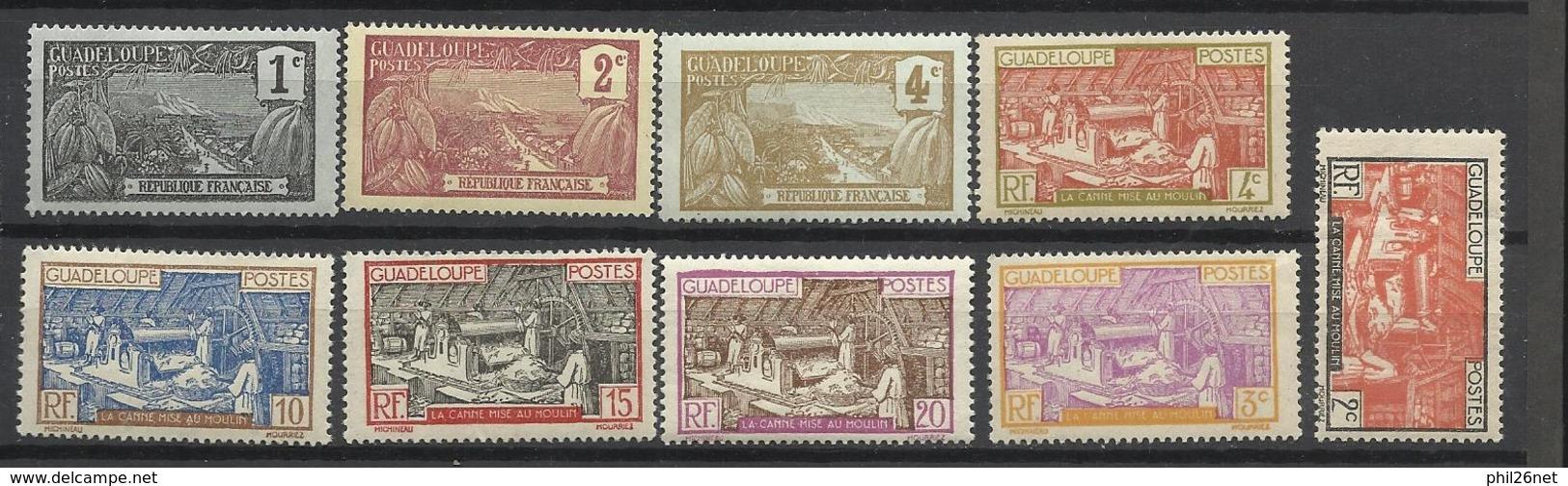 Guadeloupe  Poste N° 55 à 57 ; 100 ; 101 ; 103 à 105  Et 149  Neufs * * Et Neufs *   B/TB  Soldé à  Moins De 20 % ! ! ! - Nuevos