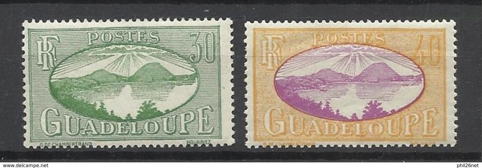 Guadeloupe  Poste N°107  Et 108  Baie Des Saintes  Neufs * * Et Neufs *  B/TB  Soldé à  Moins De 20 % ! ! ! - Unused Stamps