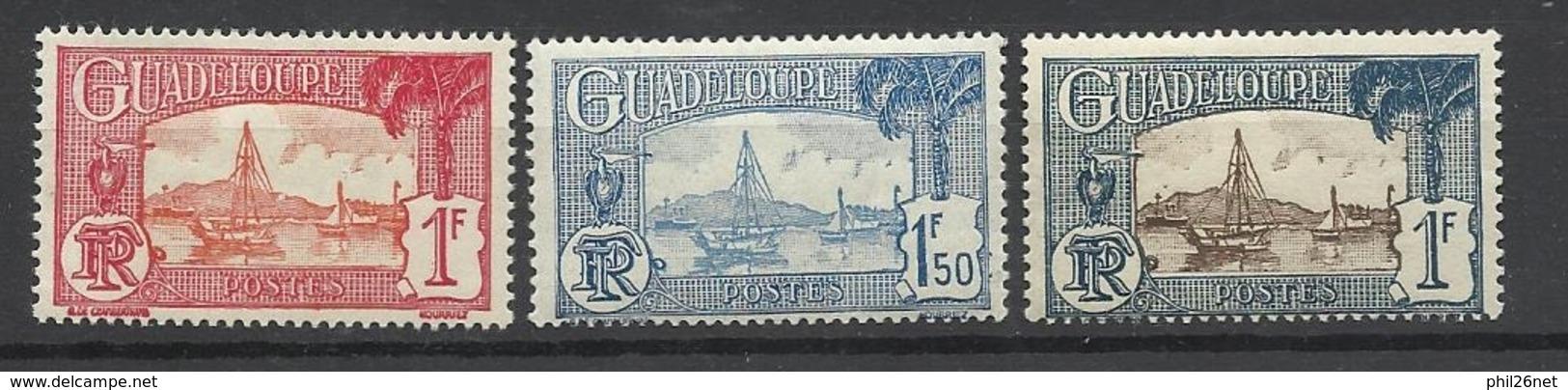 Guadeloupe  Poste N°114A; 117  Et 162    Neufs * * Et Neufs *  B/TB  Soldé à  Moins De 20 % ! ! ! - Ongebruikt