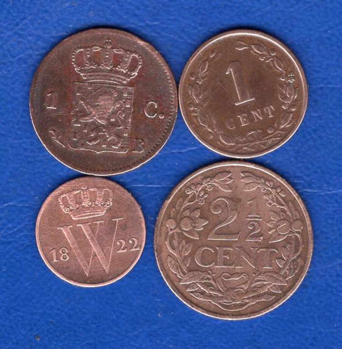 Pays  Bas  4  Pieces - [ 3] 1815-… : Royaume Des Pays-Bas