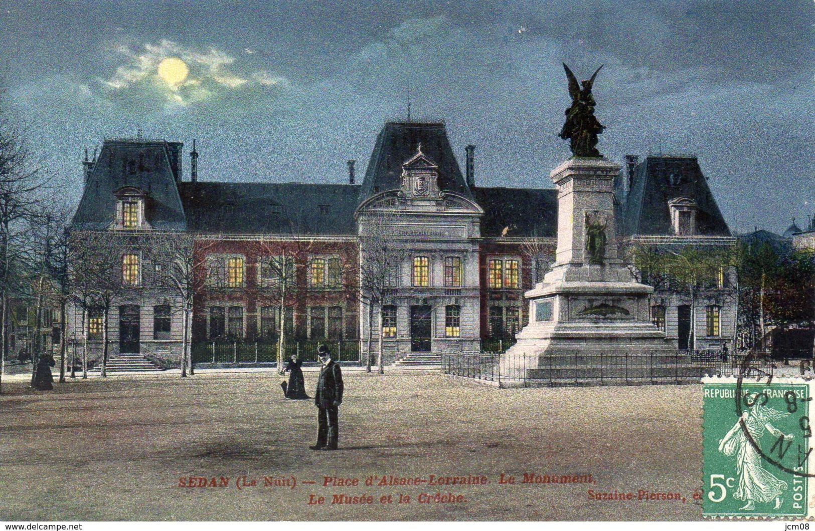 Sedan(la Nuit) Place D'Alsace - Sedan
