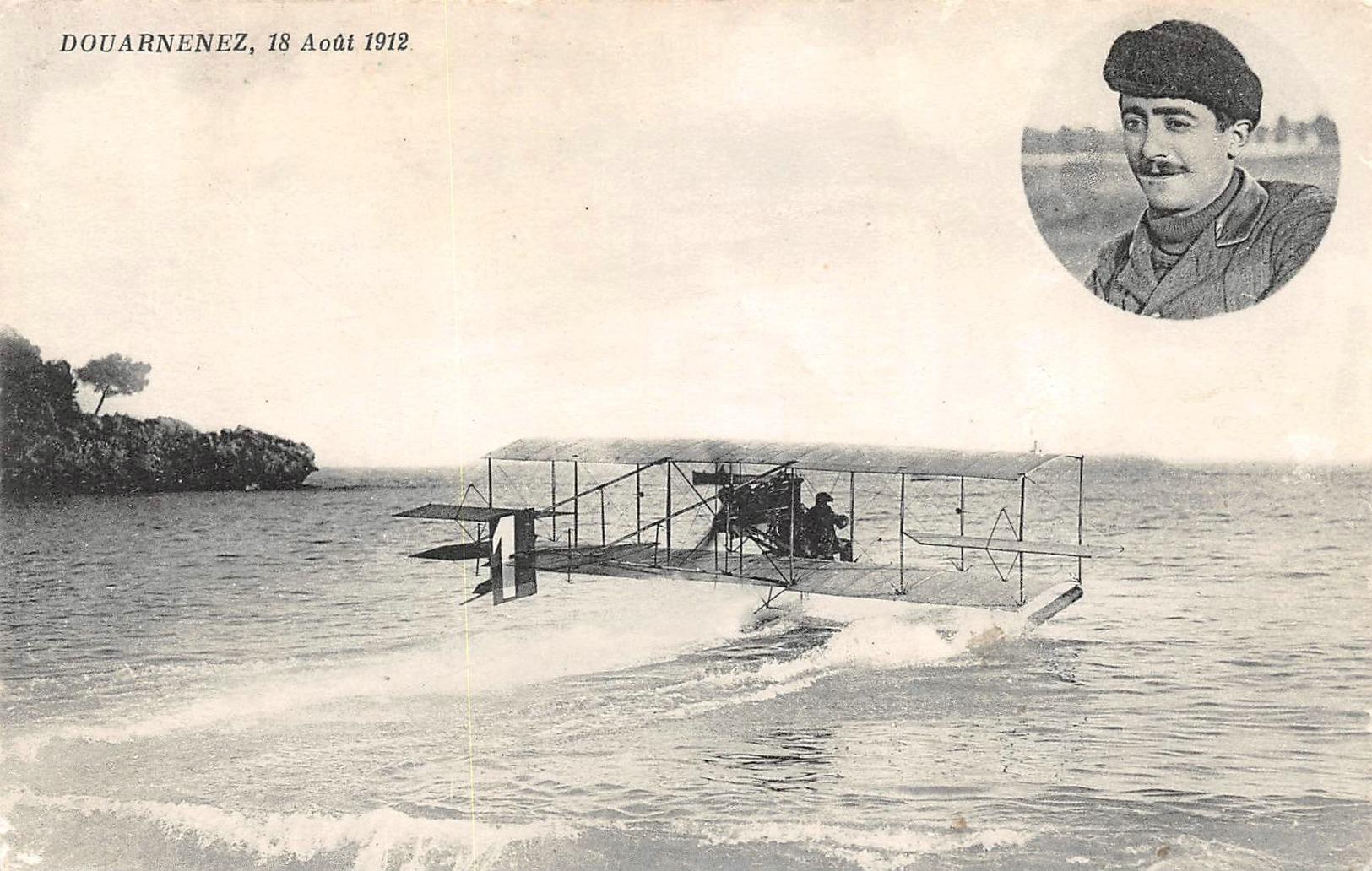 DOUARNENEZ -  AVIATION  -  Amerissage  Le 18 Aout 1912 ( RARETE ) - Douarnenez