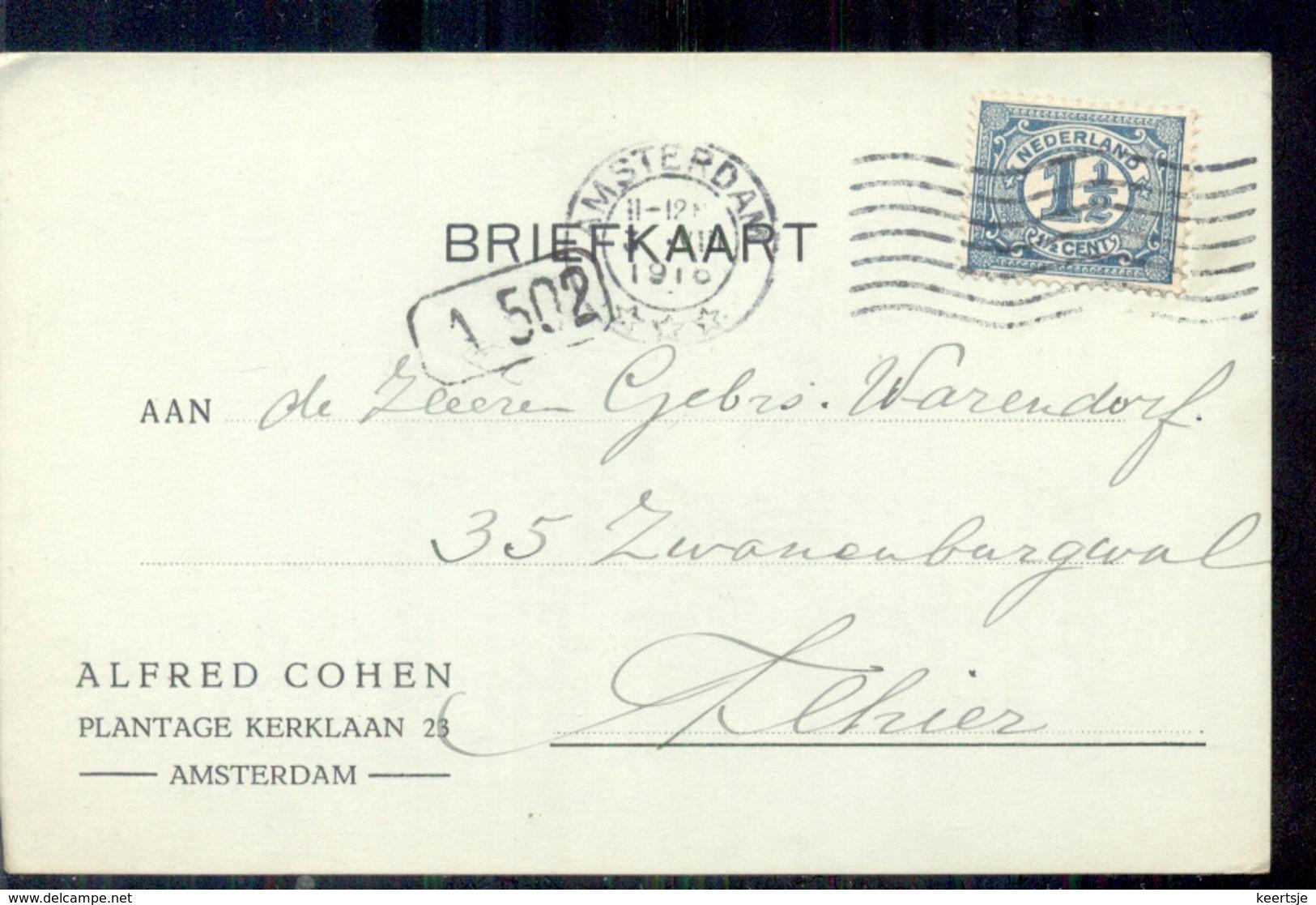 Amsterdam - Alfred Cohen - Plantage Kerklaan - 1916 - Amsterdam