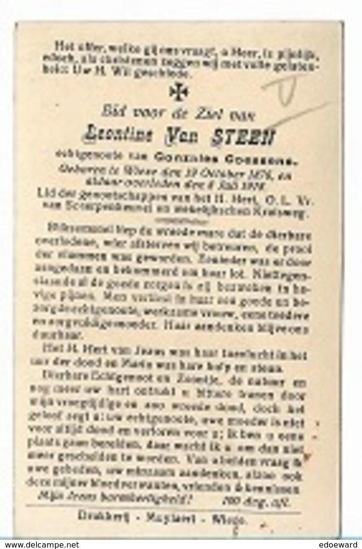 DI/M/ ° WIEZE 18976 + 1918  LEONTINE VAN STEEN    Met Foto - Religion & Esotérisme