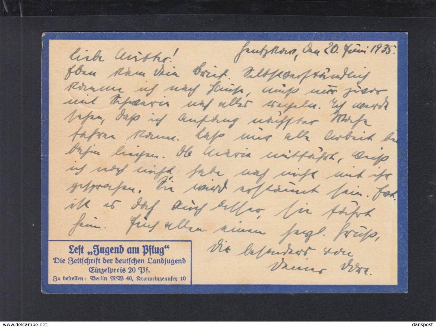 Dt. Reich PK Landdienst Der HJ Artamanenbewegung 1935 Gelaufen - Guerre 1939-45