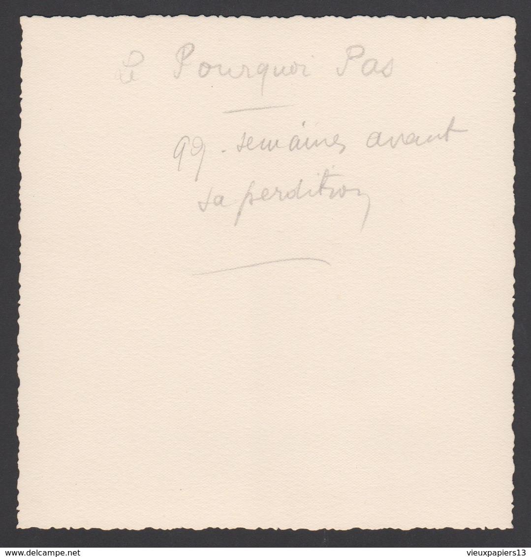 Superbe Photo Ancienne Bateau Commandant Charcot Le Pourquoi Pas ? Qq Semaines Avant Sa Perdition 1936 Saint Servan - Bateaux