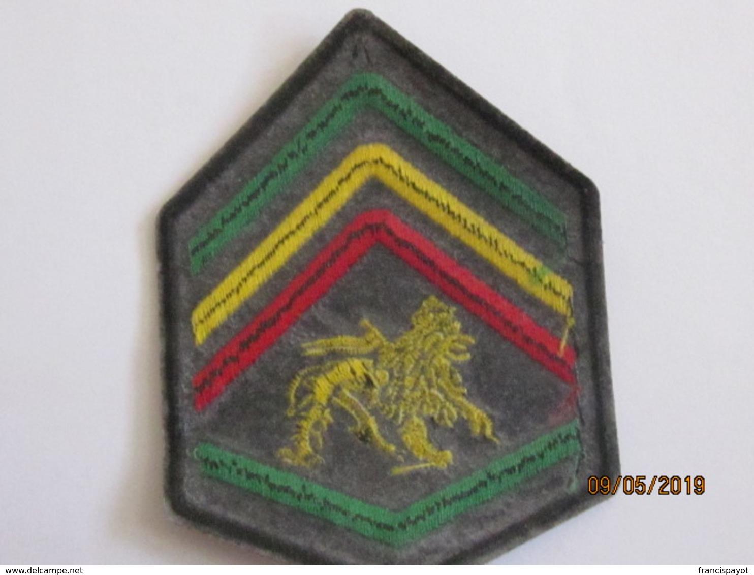Ethiopia: Patche Sergeant Rank (fancy Or Haile Selassie's Time) - Ecussons Tissu