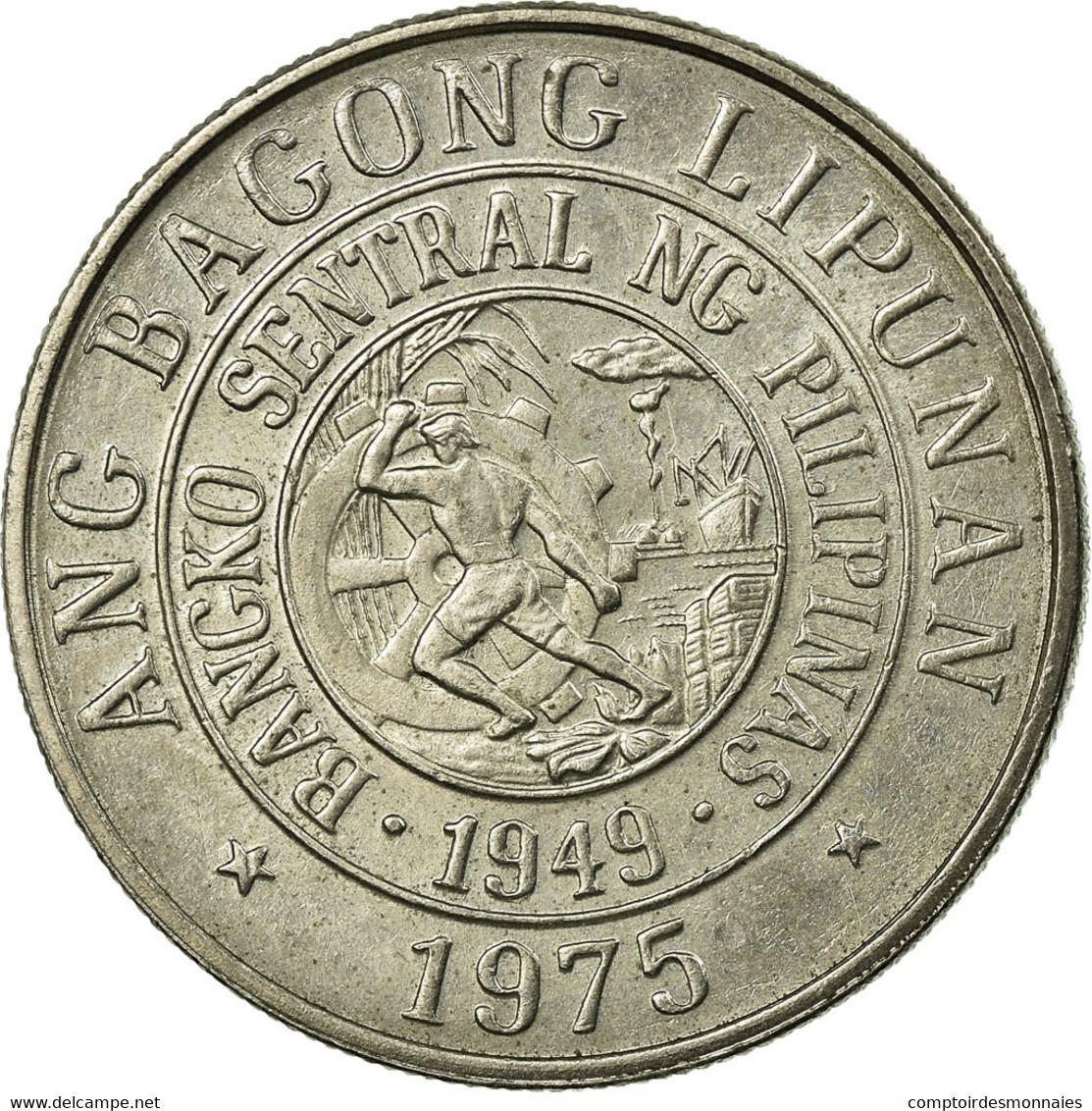 Monnaie, Philippines, 25 Sentimos, 1975, TTB, Copper-nickel, KM:208 - Philippines