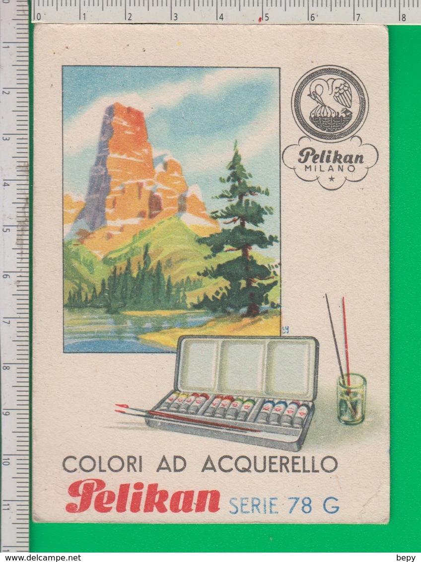 PELIKAN. Calandario. Calendarietto 1946. Penna. Inchiostro. Penne. Acquarello. Semestrino. - Kalenders