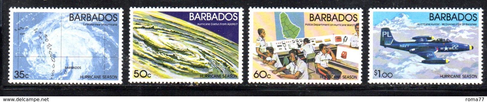 CI886a - BARBADOS 1981, Serie Yvert N. 529/532 ***  MNH   (2380A) . Uragani - Barbados (1966-...)