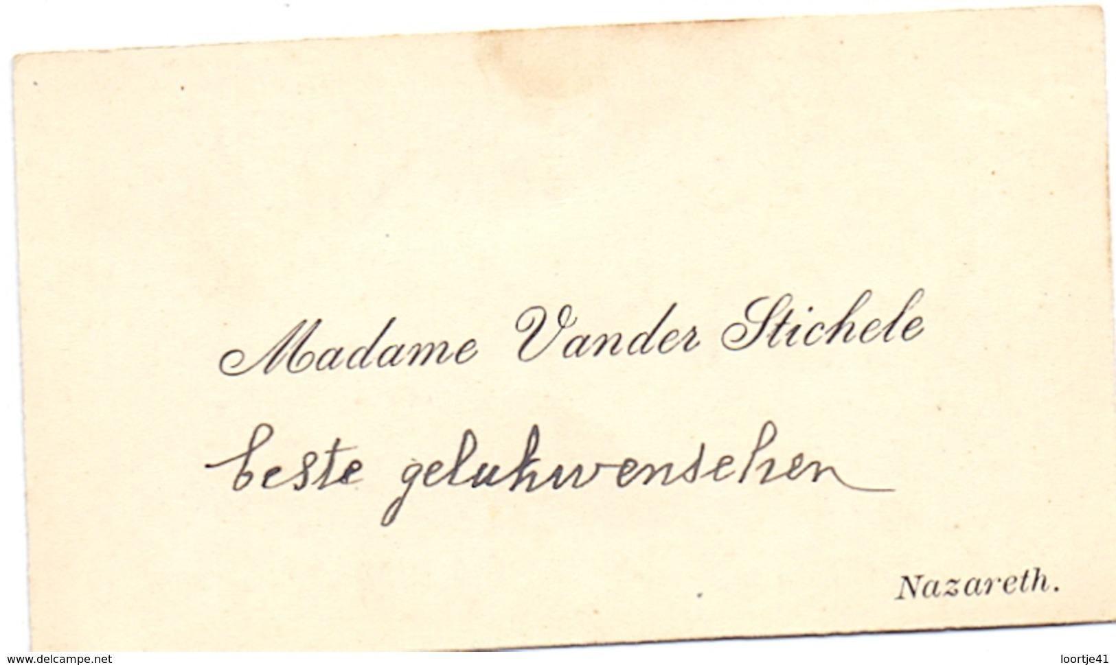 Visitekaartje - Carte Visite - Madame Vander Stichele - Nazareth - Cartes De Visite