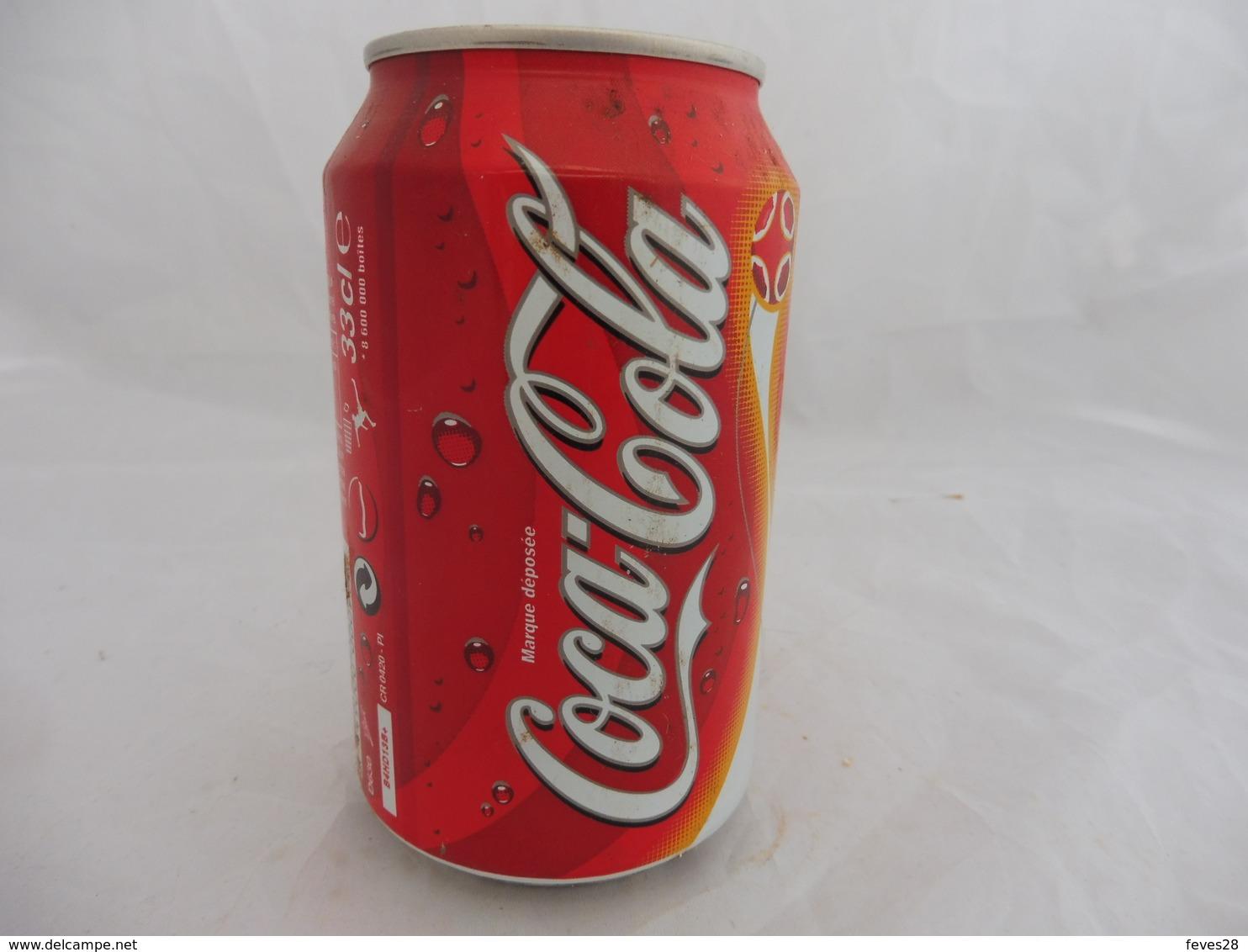 COCA COLA® CANETTE VIDE SERIE LIMITEE N°10/12 ROBERT PIRES 2005 FRANCE 33 Cl - Cannettes