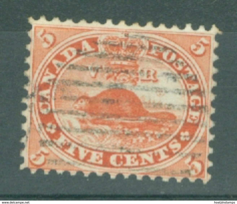 Colony Of Canada: 1859   American Beaver   SG32   5c   Deep Red    Used - Gebruikt