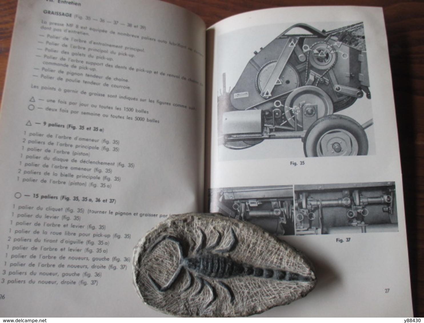 Livret Pour PRESSE RAMASSEUSE  N°8   Des Années 60 - MASSEY FERGUSON - 38 Pages - 17 Photos - Machines