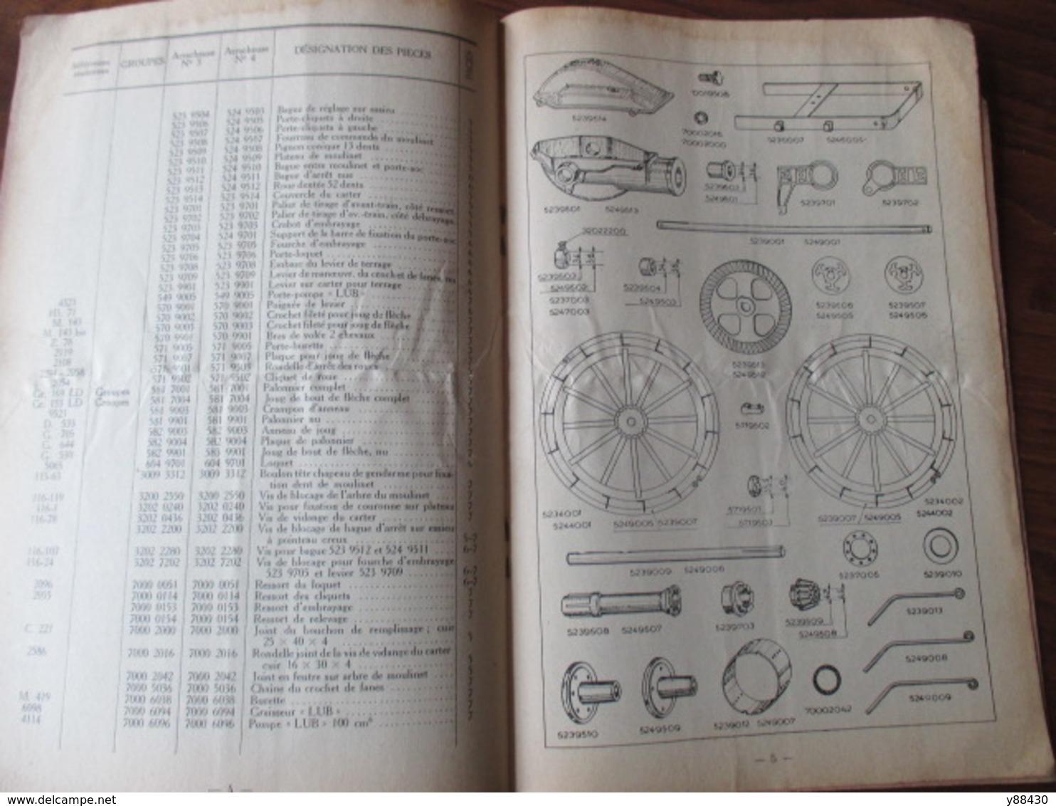 Livret Pour ARRACHEUSES A BAIN D'HUILE - Ets DOLLE à VESOUL - Année 1951 - 12 Pages - 7 Photos - Machines