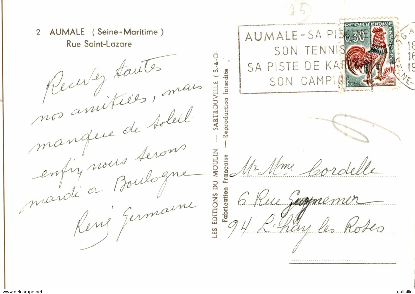 AUMALE RUE SAINT LAZARE - Aumale
