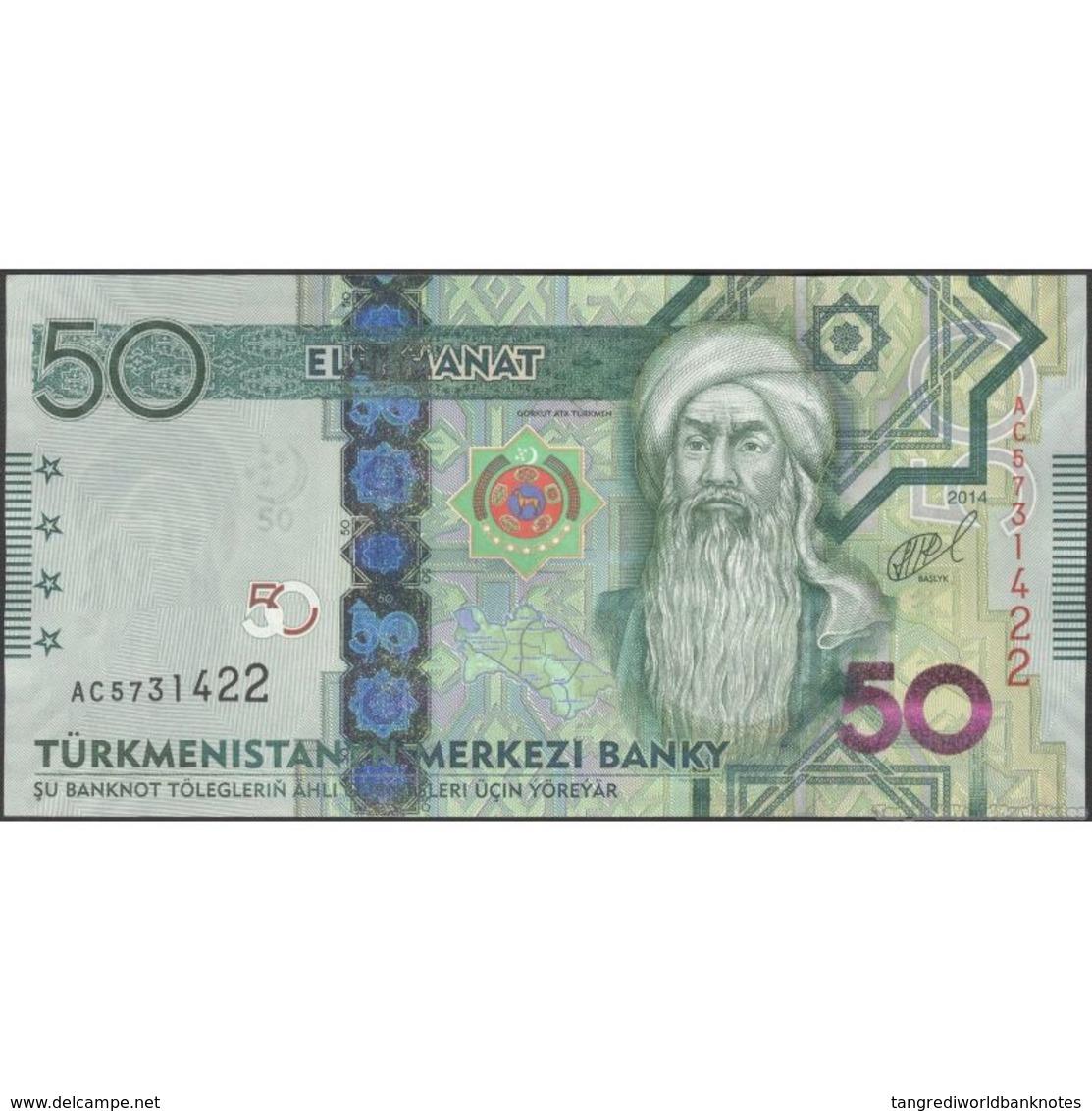 TWN - TURKMENISTAN 33 - 50 Manat 2014 Prefix AC UNC - Turkmenistan