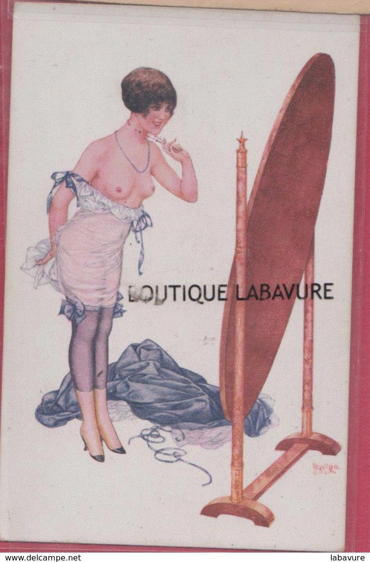 ILLUSTRATEUR --HEROUARD---Sous Les Armes---Femme Devetue Se Regardant Dans Un Miroir - Illustrateurs & Photographes