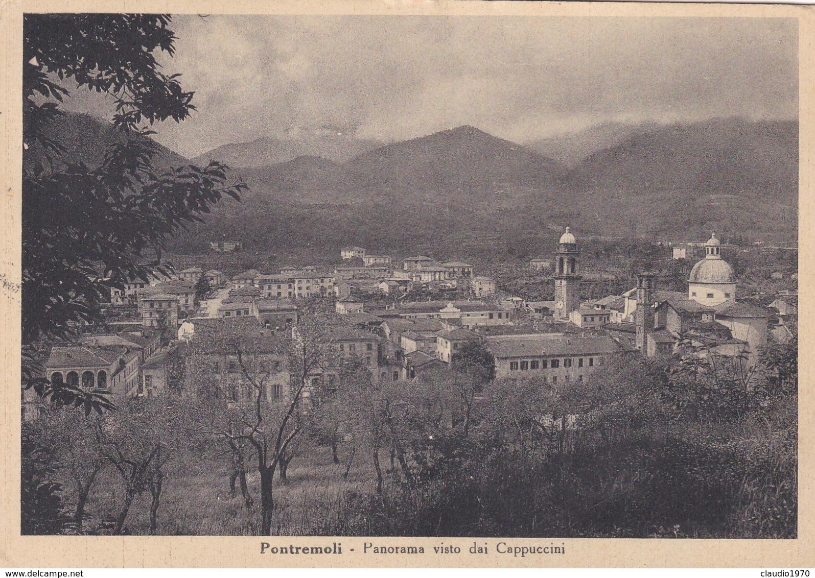 CARTOLINA  - MASSA - PONTREMOLI - PANORAMA DAI CAPPUCCINI - VIAGGIATA PER GENOVA - Massa