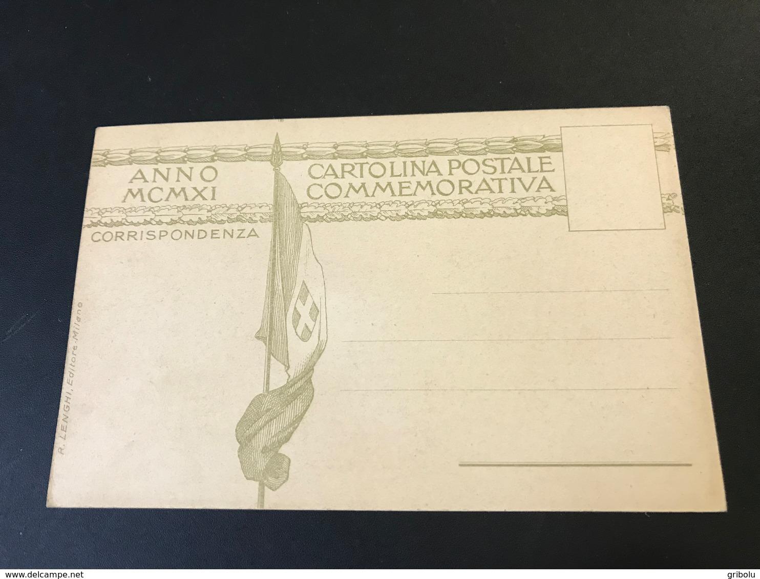 CINQUANTENARIO UNITA D'ITALIA - 1911 - Festeggiamenti Pro Societa Lombarda Garibaldini - Milano - Otros